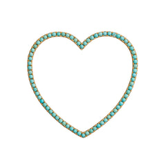 Turquoise Heart Pendant by Rosa de la Cruz for Broken English Jewelry