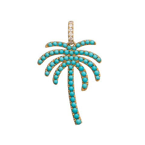 Turquoise Palm Pendant by Rosa de la Cruz for Broken English Jewelry