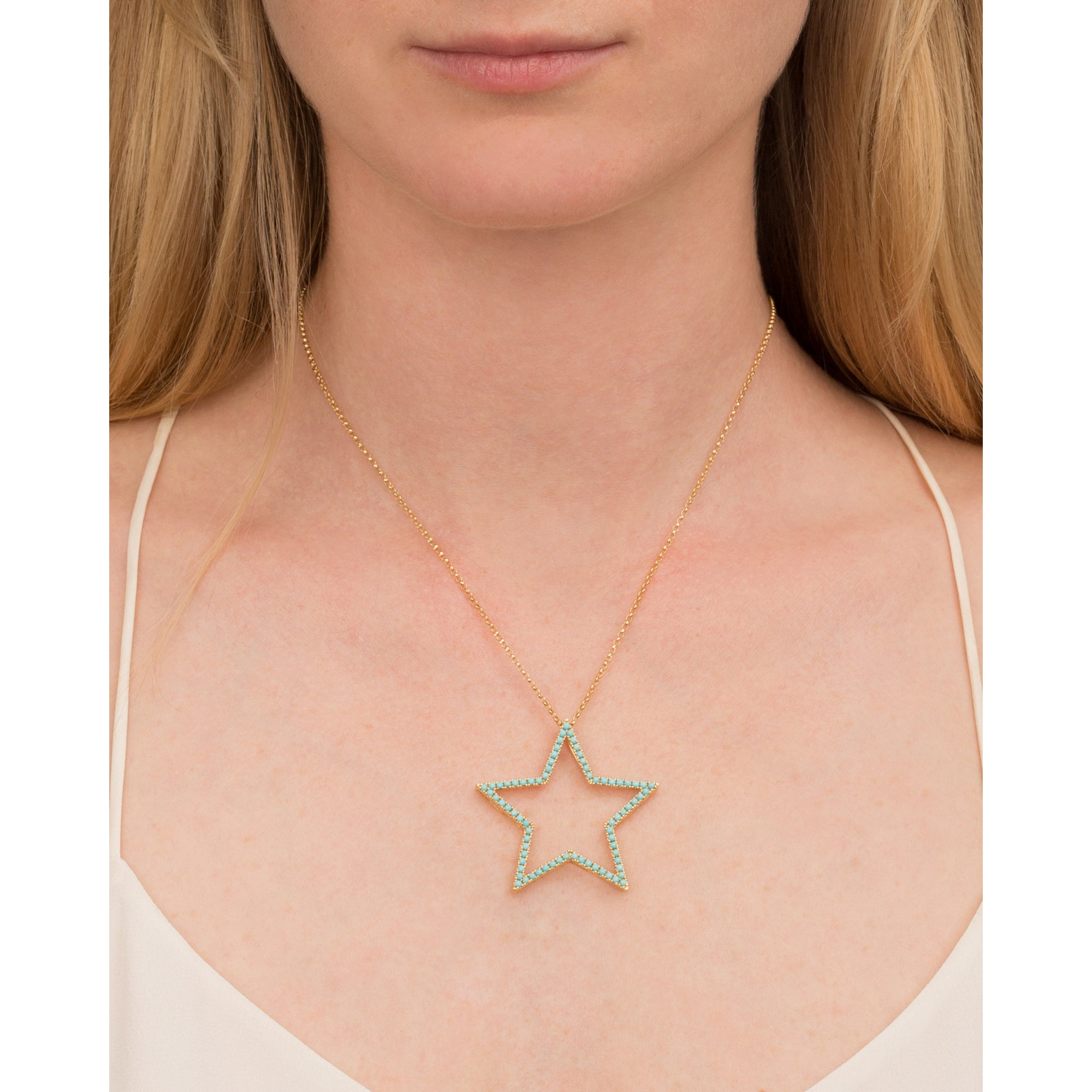 Turquoise Star Pendant by Rosa de la Cruz for Broken English Jewelry