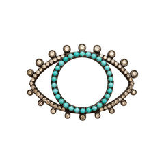 Turquoise Eye Pendant by Rosa de la Cruz for Broken English Jewelry
