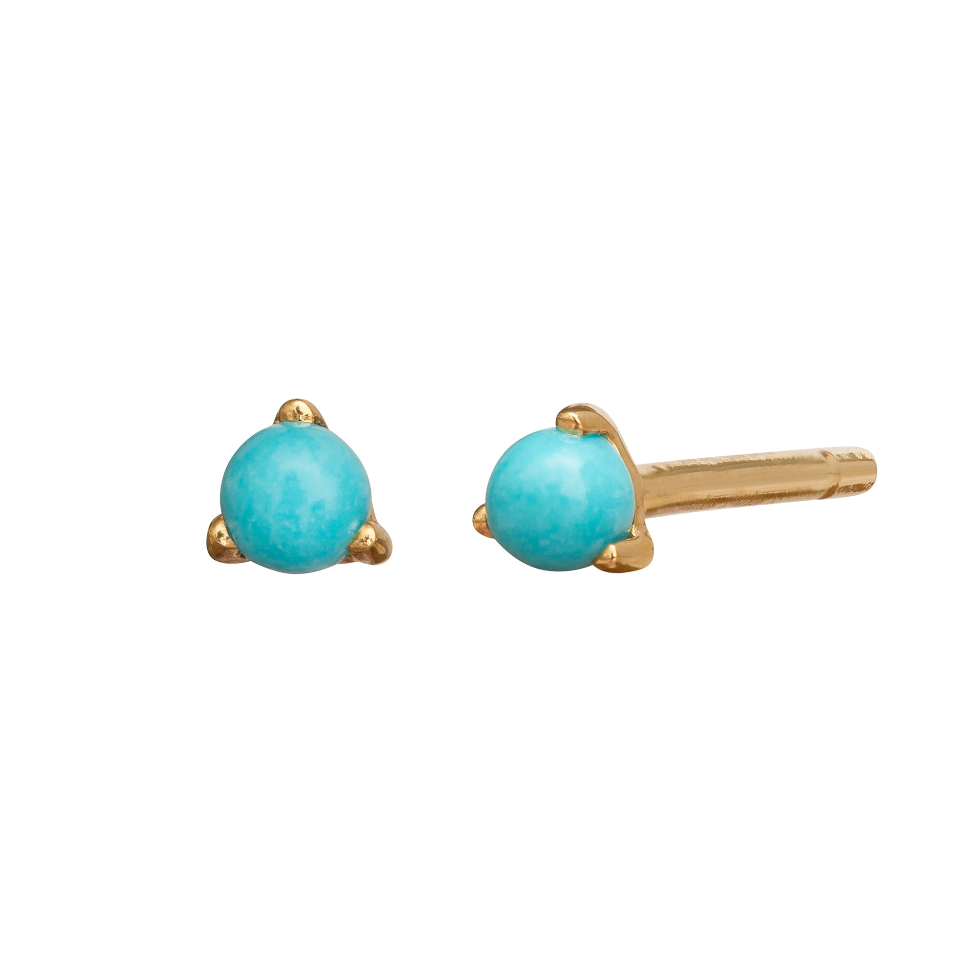 Turquoise Dot Studs by Rosa de la Cruz for Broken English Jewelry