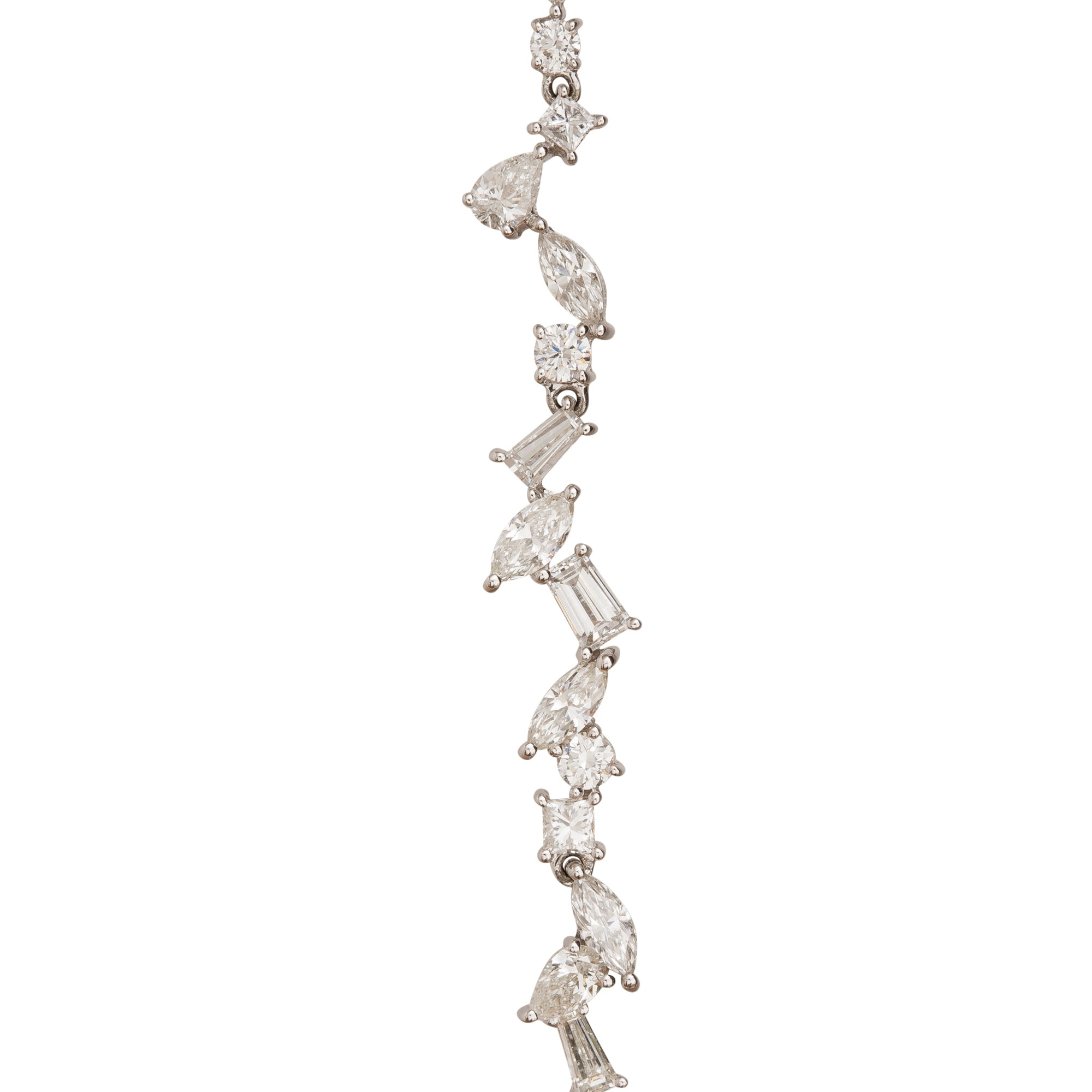 Cascade Long 'A' Earring by Rosa de la Cruz for Broken English Jewelry