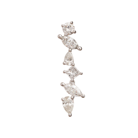 Cascade 'C' Earring by Rosa de la Cruz for Broken English Jewelry