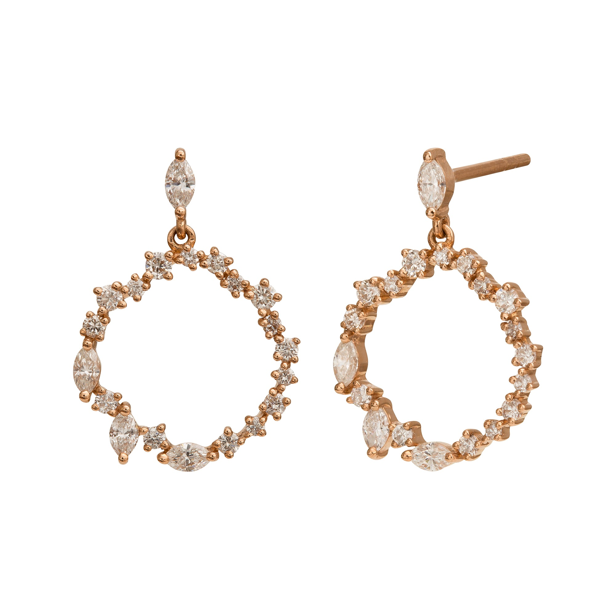 Cascade Eternity Circle Earrings by Rosa de la Cruz for Broken English Jewelry