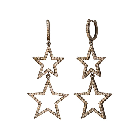 Double Star Earrings by Rosa de la Cruz for Broken English Jewelry