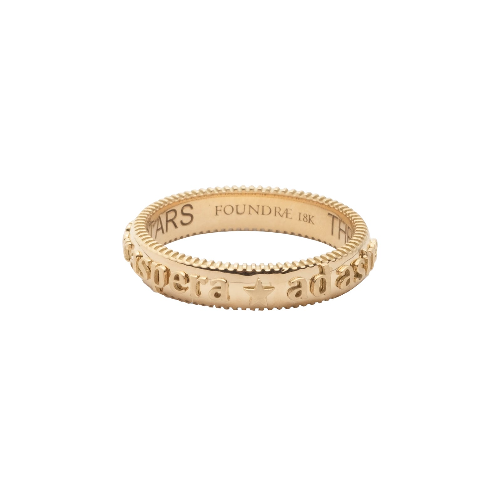 Foundrae Per Aspera Ad Astra Rounded Edge Band - Rings - Broken English Jewelry