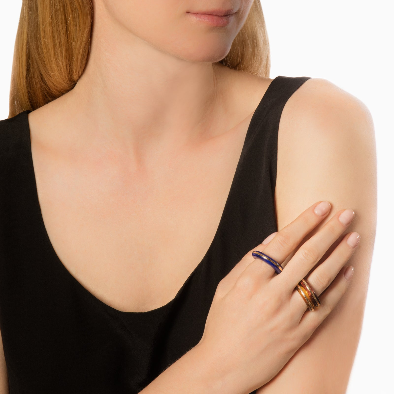 By Pariah Essential Stacking Ring - Red Tiger Eye - Rings - Broken English Jewelry