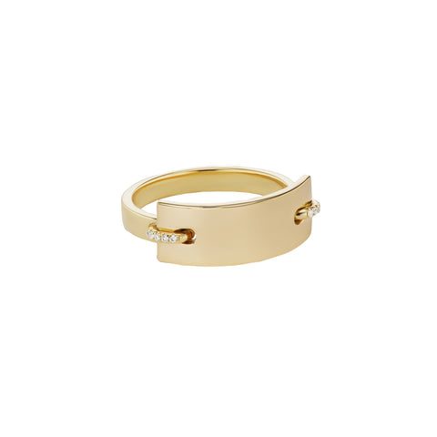 Nom De Plume Diamond Jr Ring - Sandrine de Laage - Rings | Broken English Jewelry
