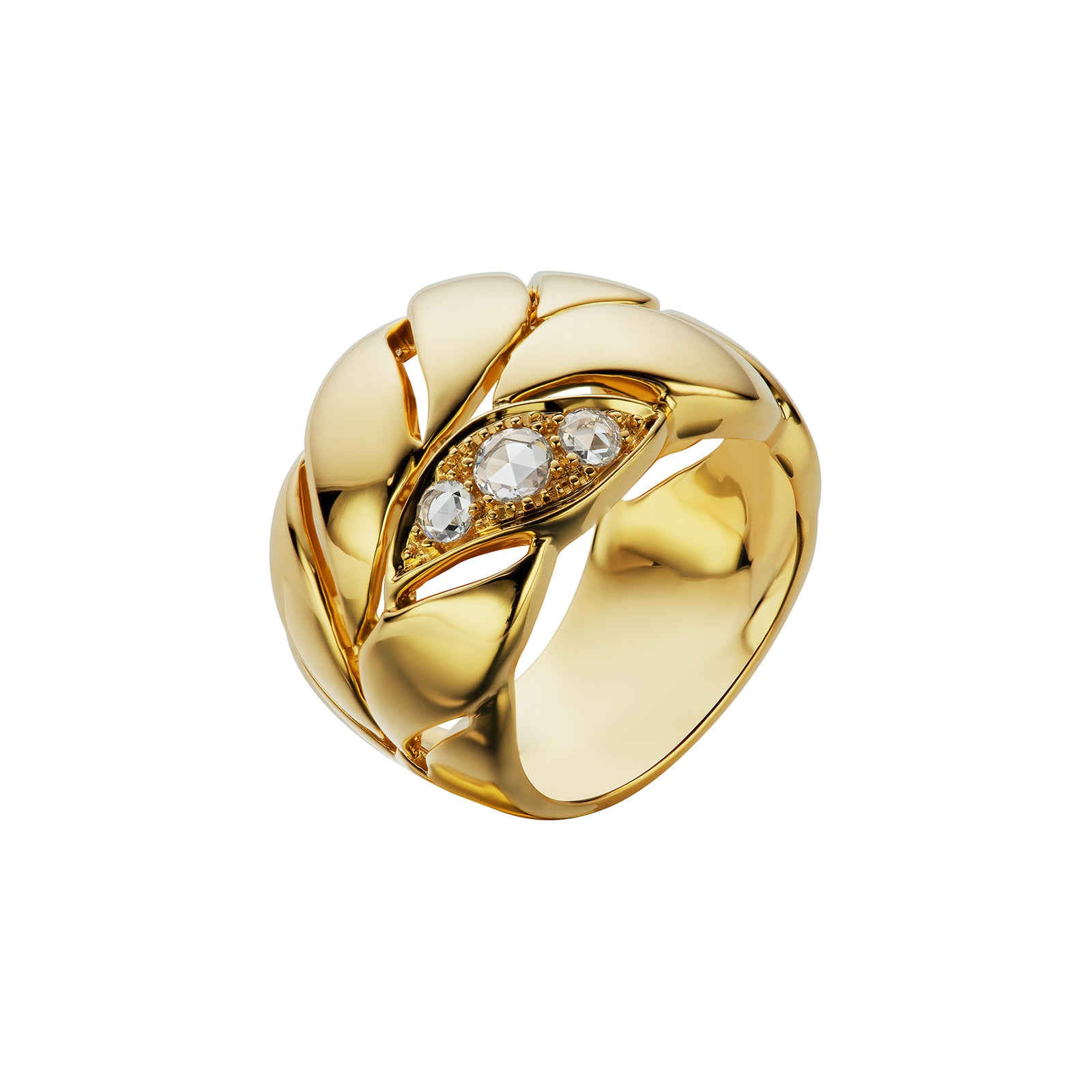 Maria Canale Petal Ring - Diamond - Rings - Broken English Jewelry