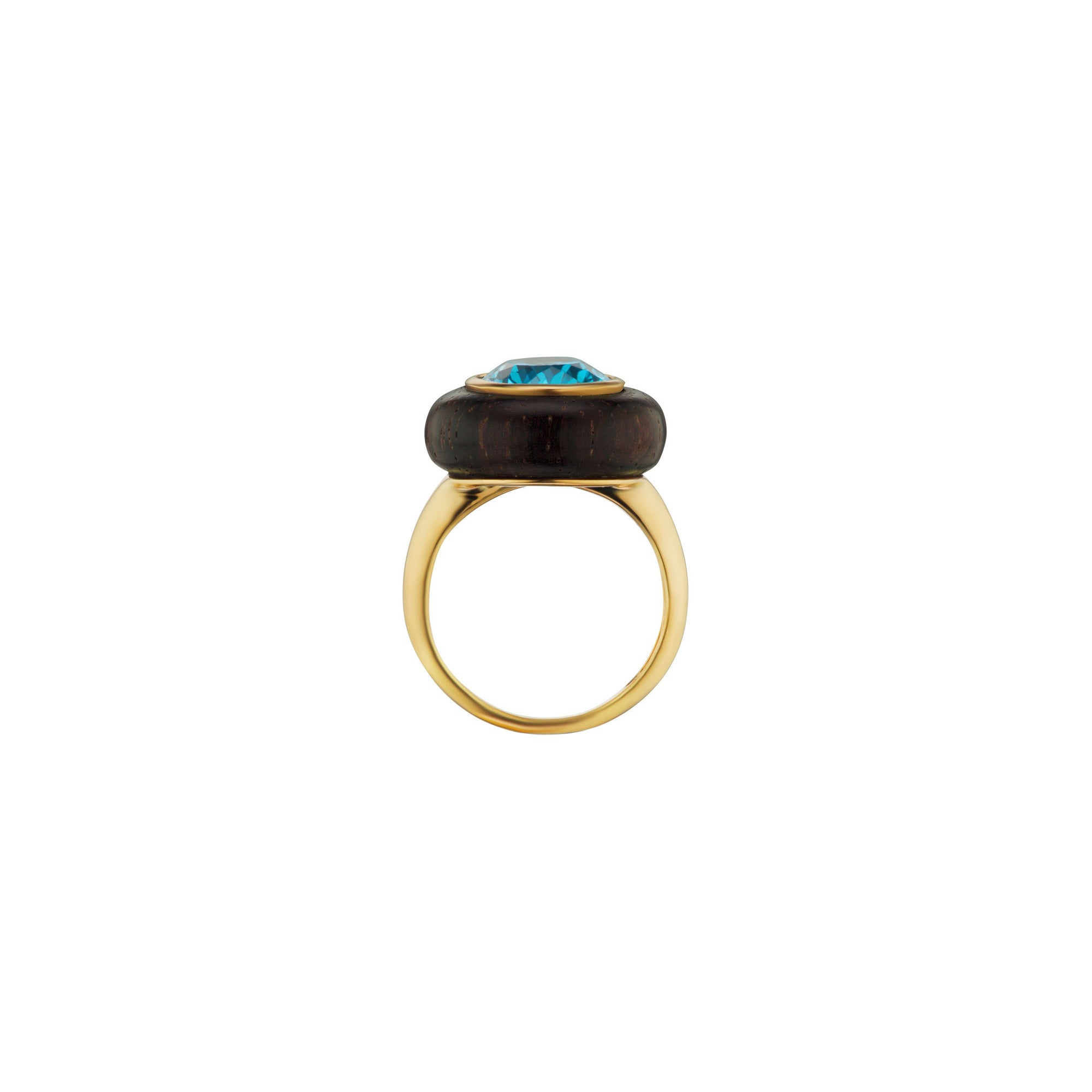 Maria Canale Voyager North-South Oval Cut Ring - Blue Topaz - Bracelets - Broken English Jewelry