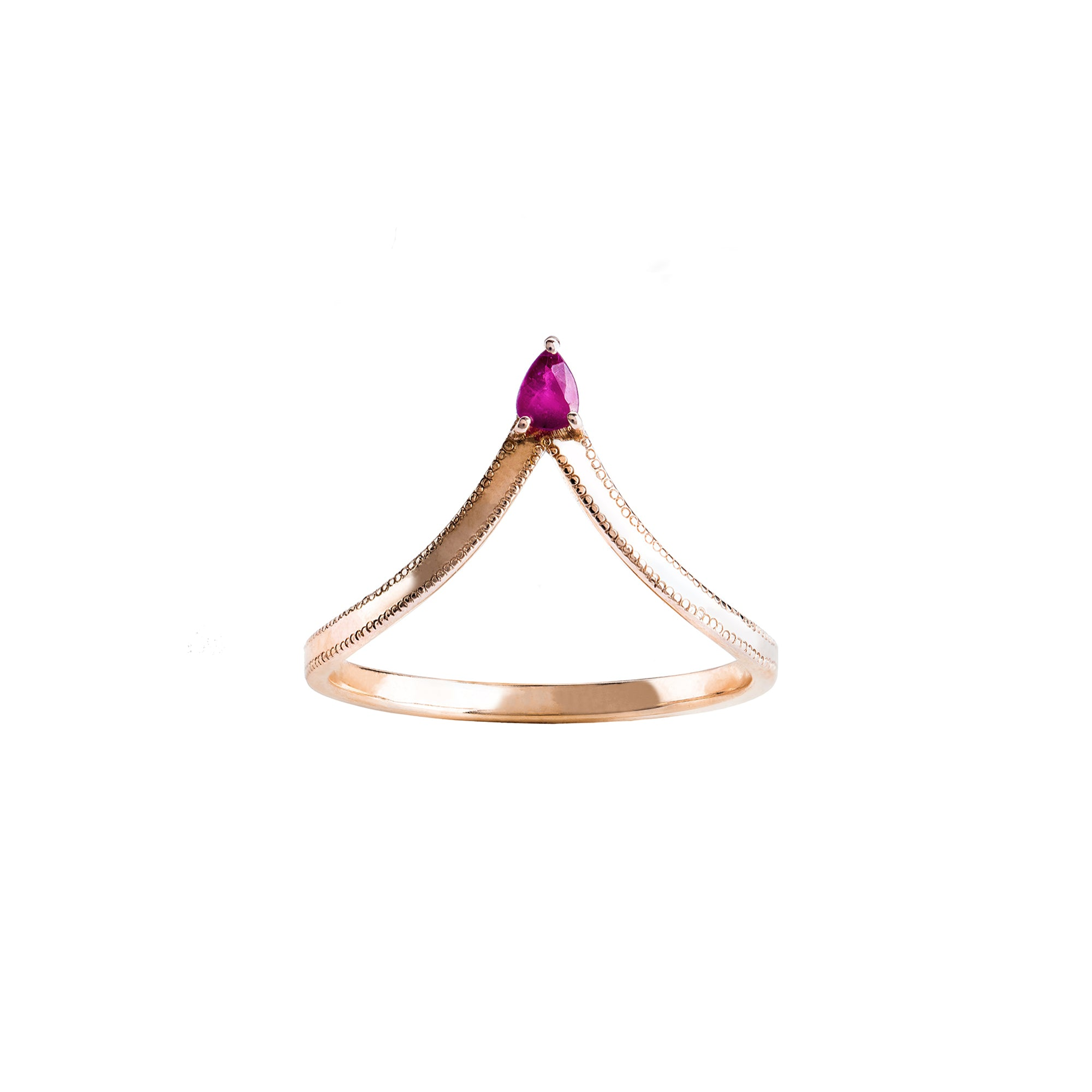 Jenny Dee Asterope Ring - Ruby - Rings - Broken English Jewelry