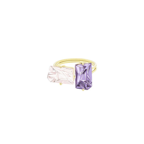 Morganite and Amethyst KLAR Ring - MISUI - Rings | Broken English Jewelry