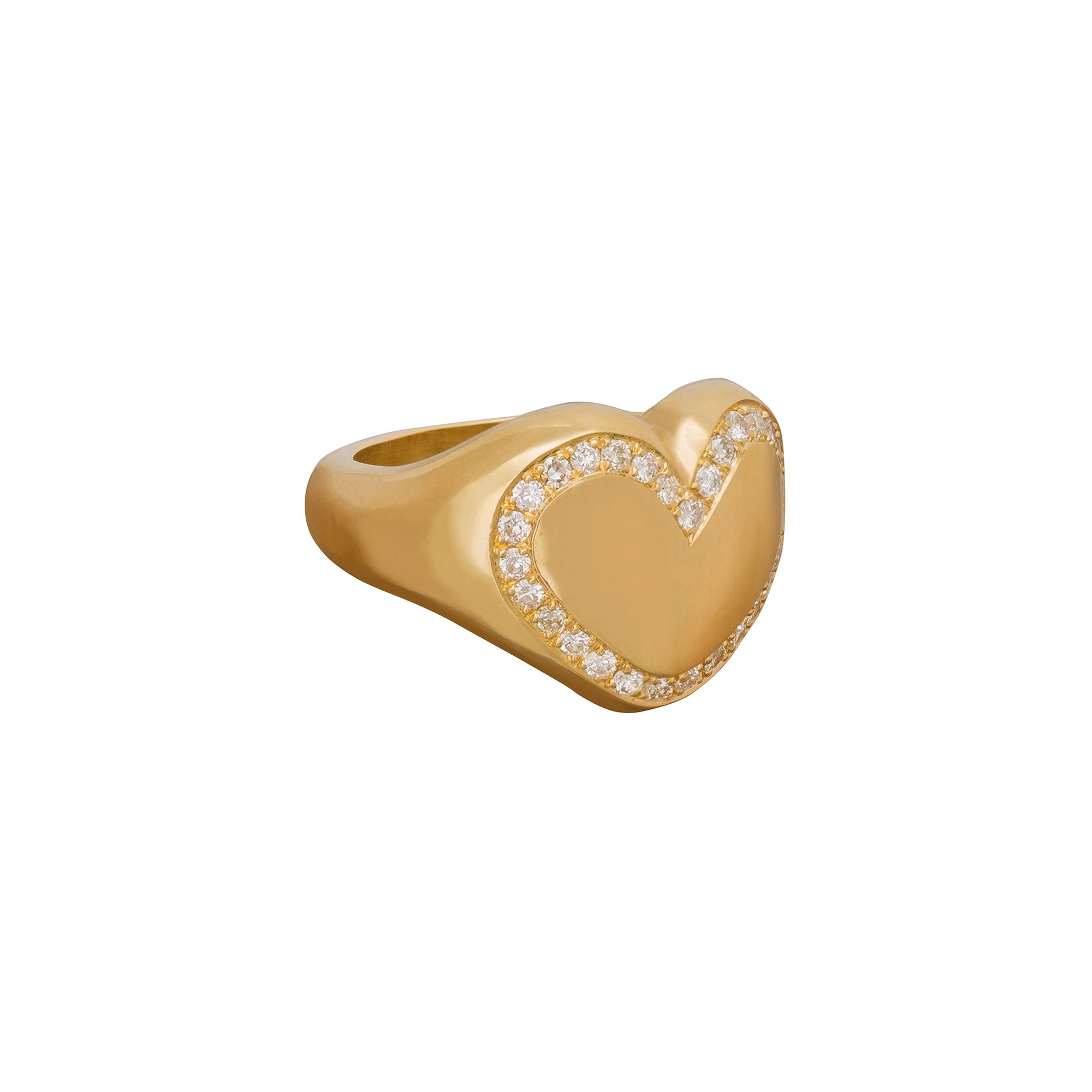 Diamond Outline Heart Ring - Christina Alexiou - Rings | Broken English Jewelry