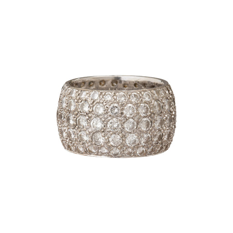 Antique Diamond Eternity Band by Renee Lewis for Broken English Jewelry