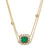 Natural Emerald Necklace by Renee Lewis for Broken English Jewelry