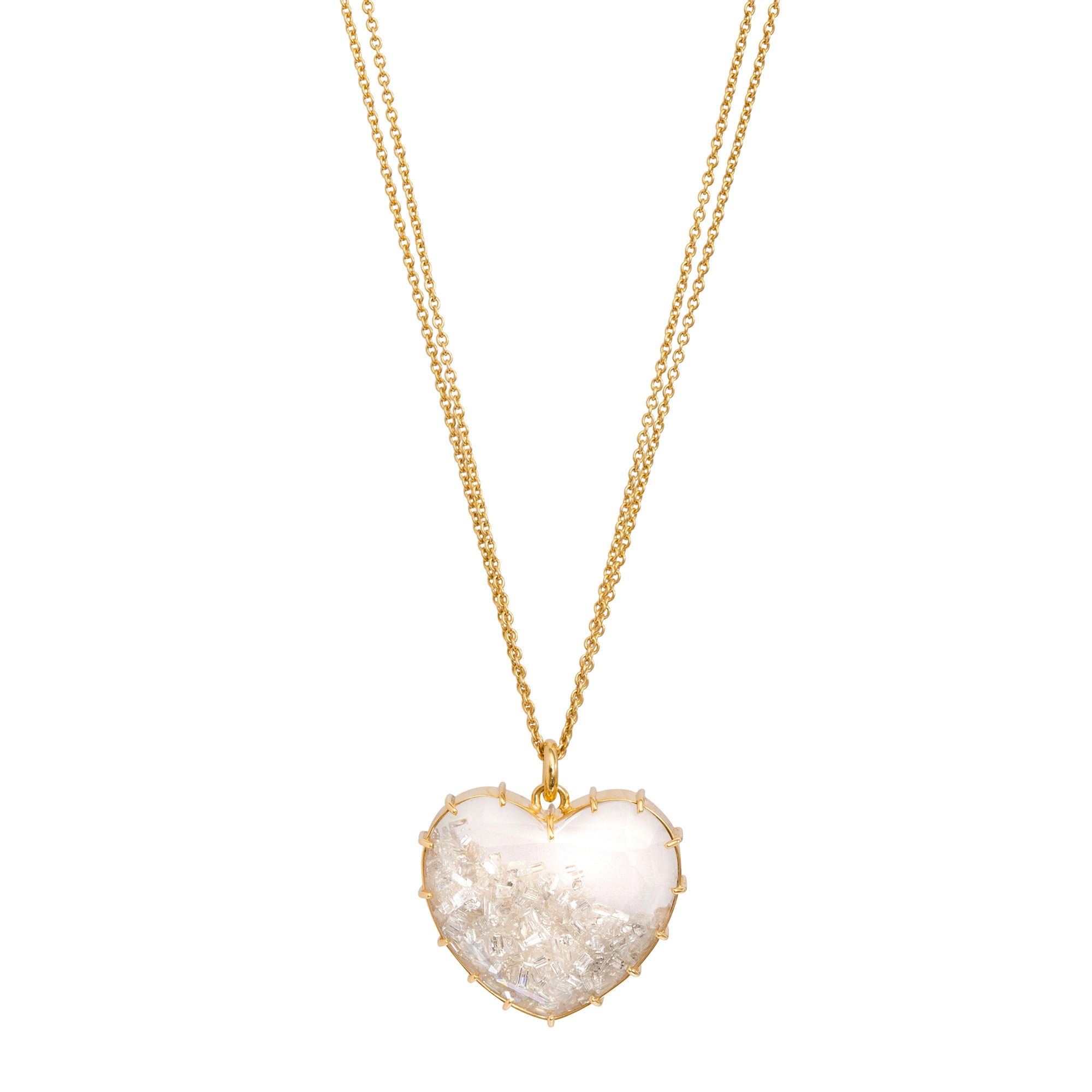 Heart Shake Necklace by Renee Lewis for Broken English Jewelry