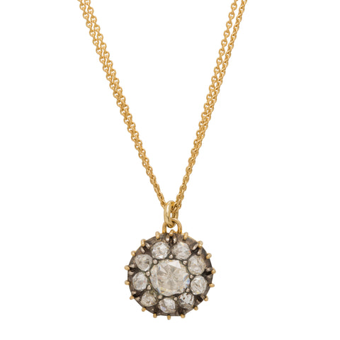 Diamond Pave Necklace by Renee Lewis for Broken English Jewelry