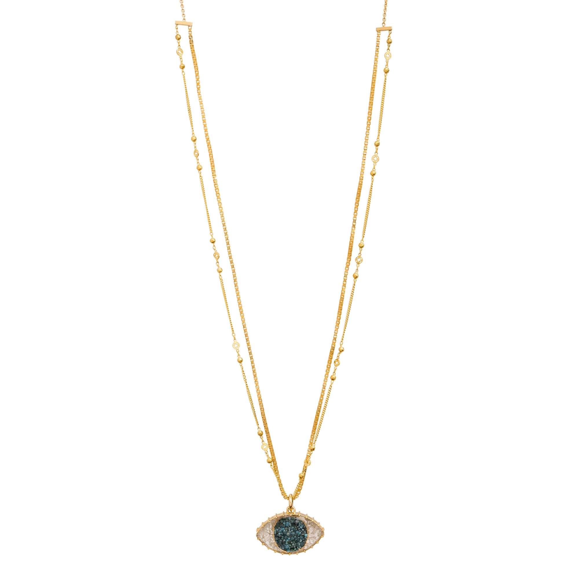 Third Eye Shake Necklace by Renee Lewis for Broken English Jewelry
