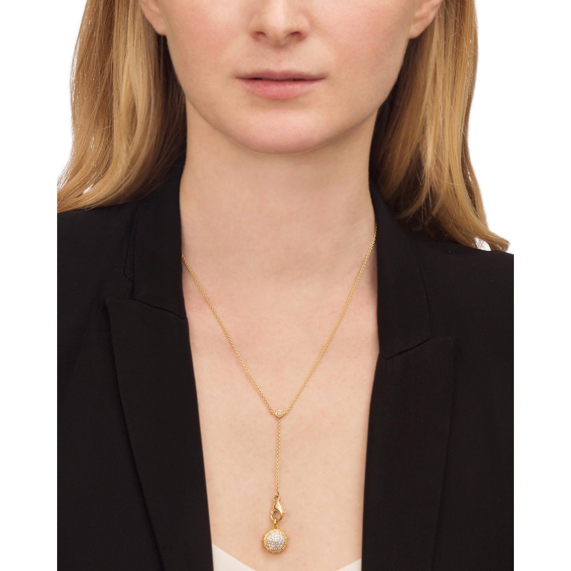 Pave Shake Necklace by Renee Lewis for Broken English Jewelry