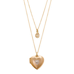 Heart Locket Necklace by Renee Lewis for Broken English Jewelry