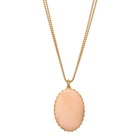 Fabulous Pink Opal Necklace by Renee Lewis for Broken English Jewelry