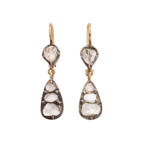 Rose Cut Diamond Earrings by Renee Lewis for Broken English Jewelry