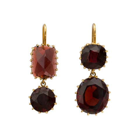 Antique Garnet Earrings by Renee Lewis for Broken English Jewelry