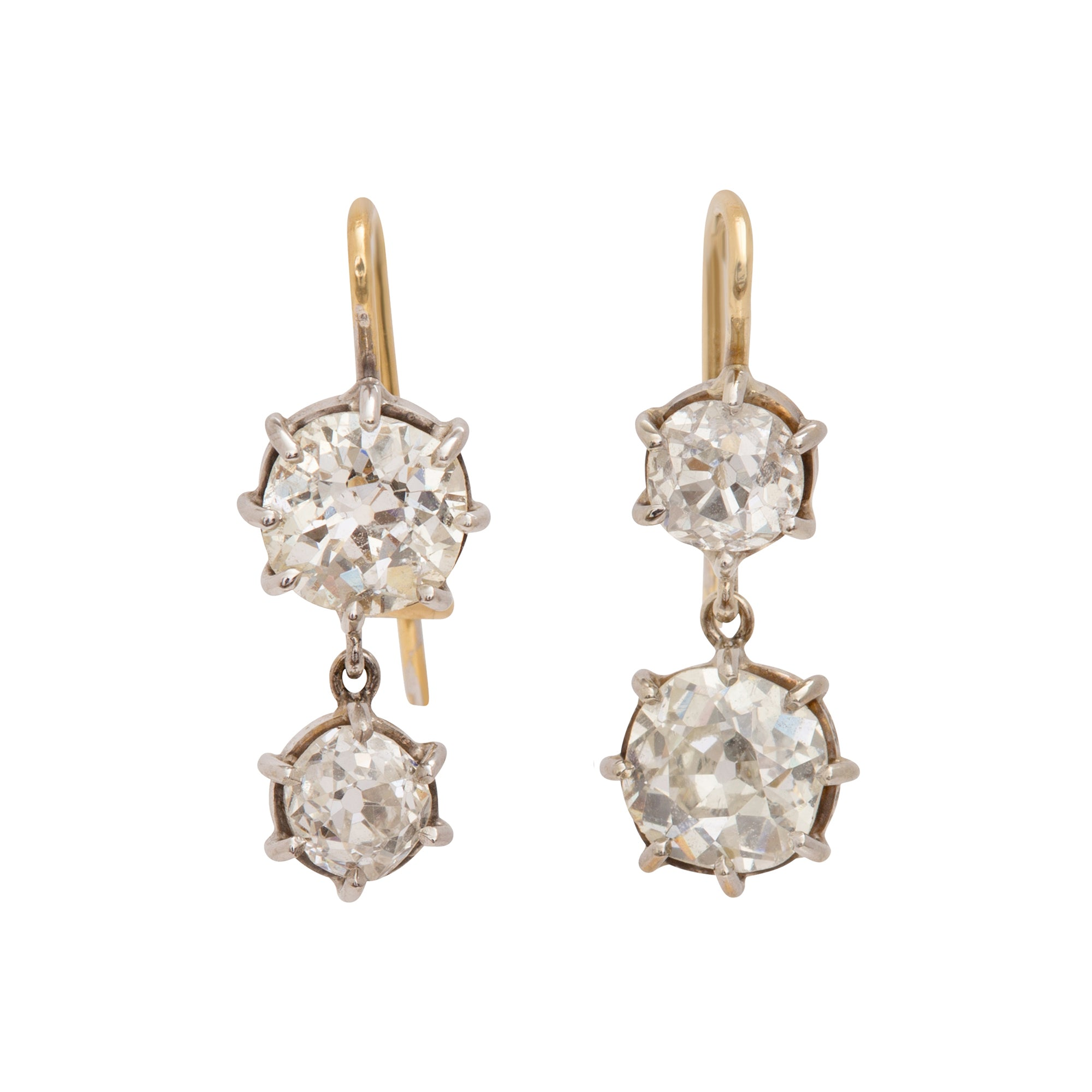 Antique Diamond Earrings by Renee Lewis for Broken English Jewelry