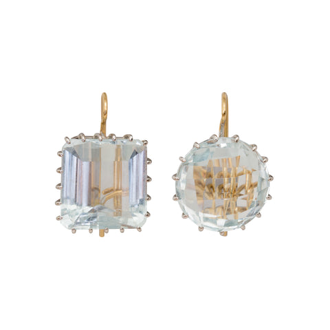 Aqua Earrings by Renee Lewis for Broken English Jewelry