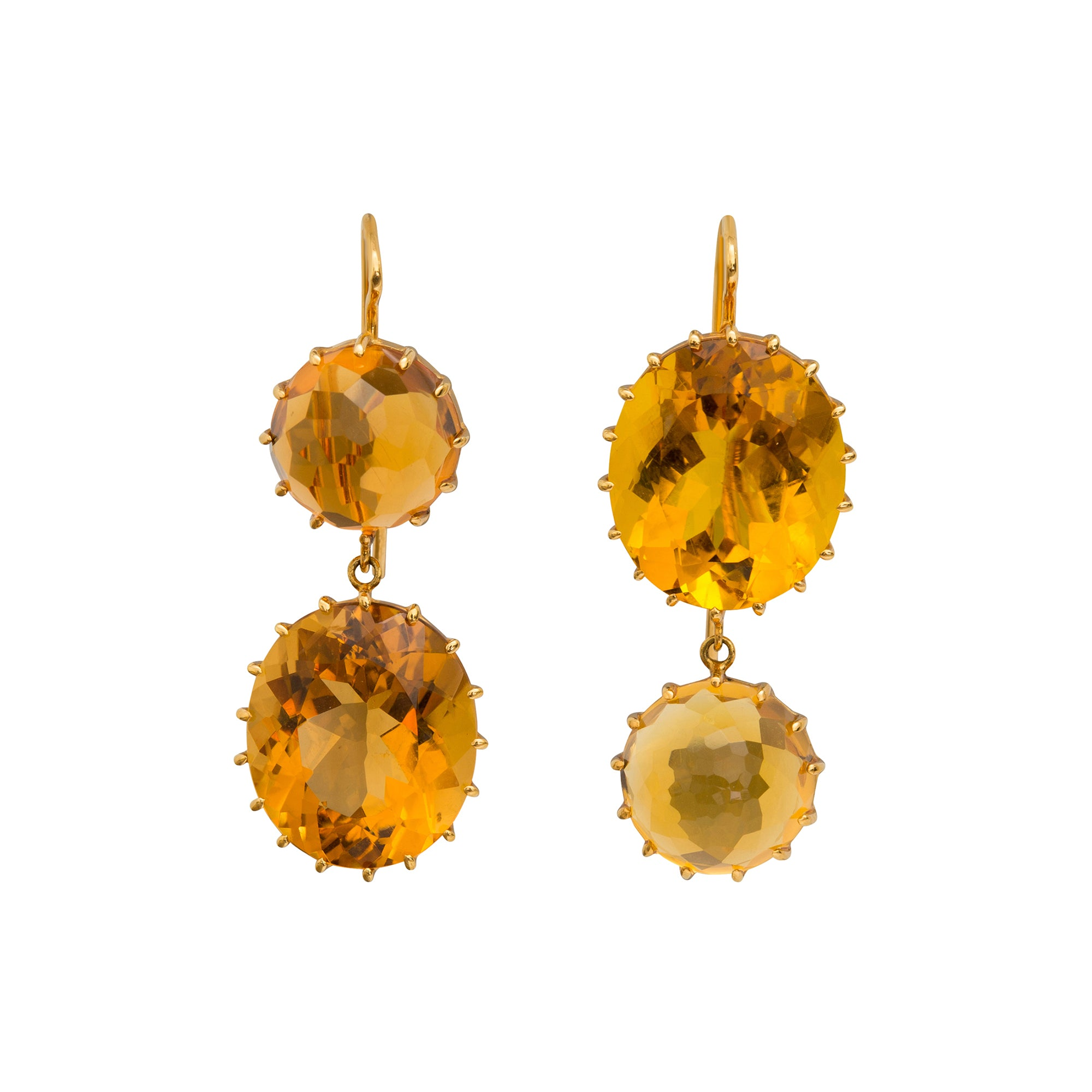 Antique Citrine Earrings by Renee Lewis for Broken English Jewelry