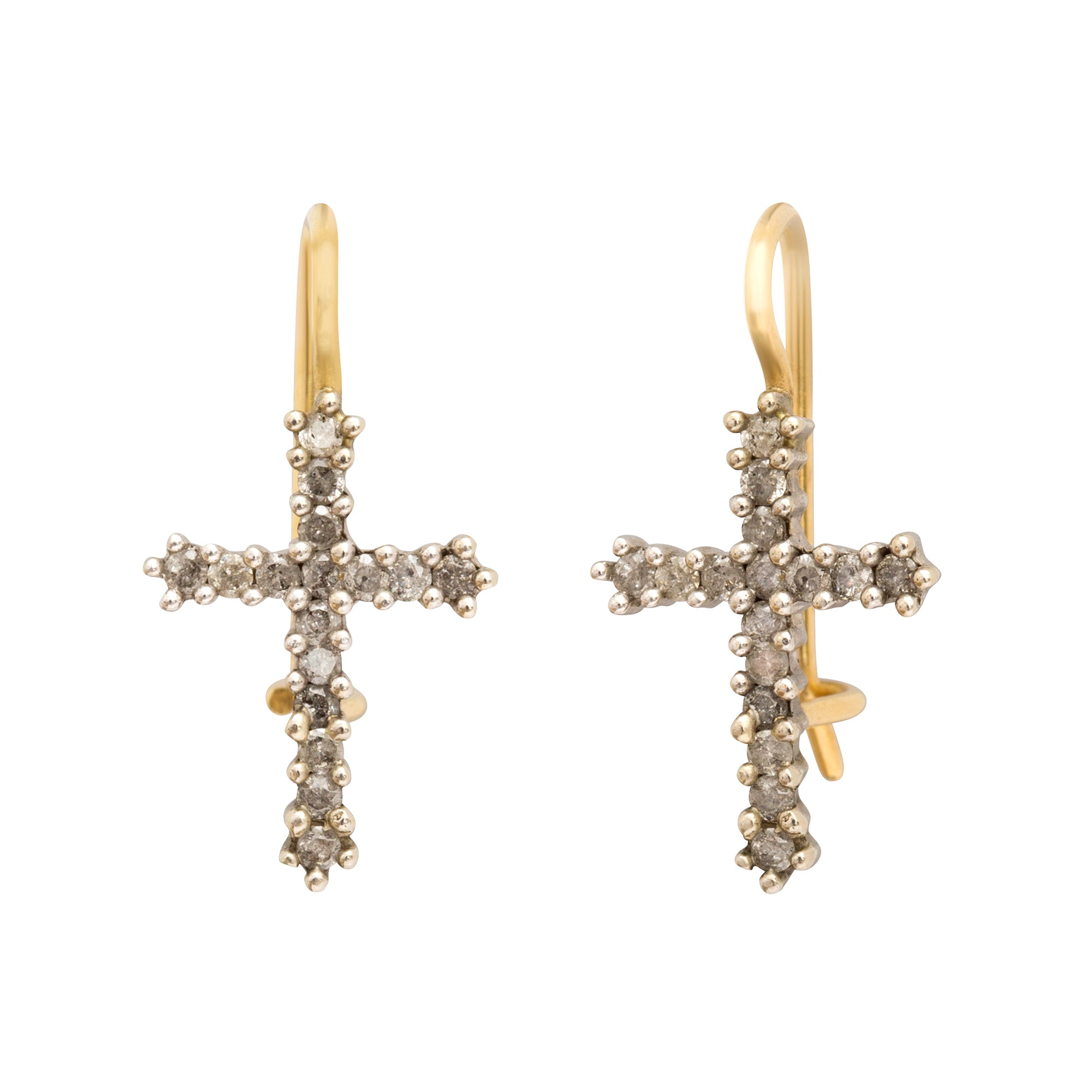 Cross Earrings by Renee Lewis for Broken English Jewelry