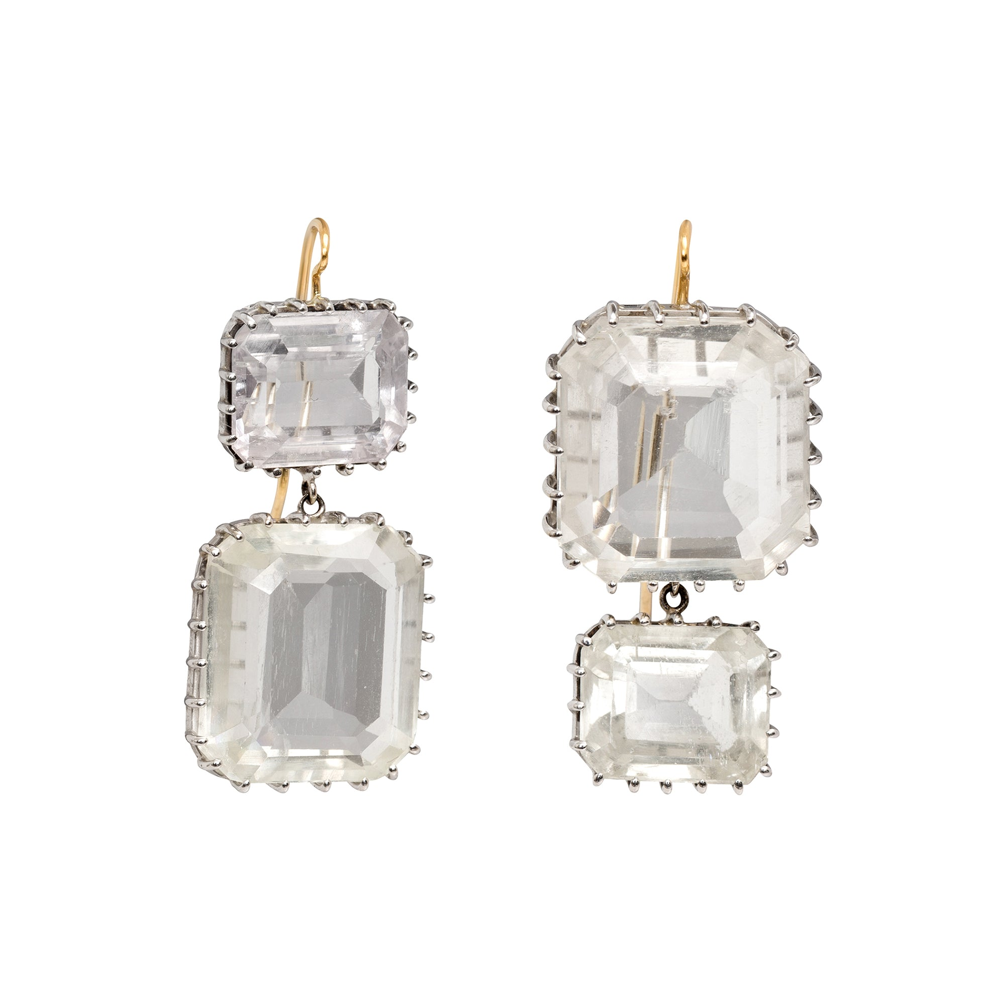 Quartz and Kunzite Earrings by Renee Lewis for Broken English Jewelry