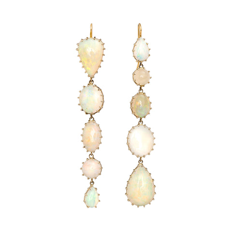 Antique Opal Earrings by Renee Lewis for Broken English Jewelry