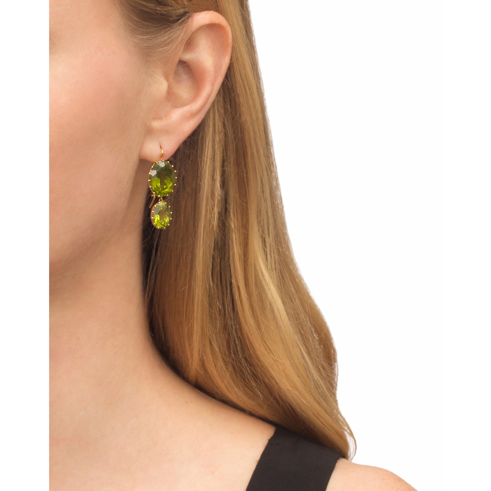 Peridot Earrings by Renee Lewis for Broken English Jewelry