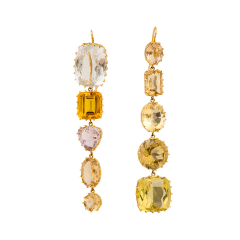 Topaz and Citrine Earrings by Renee Lewis for Broken English Jewelry