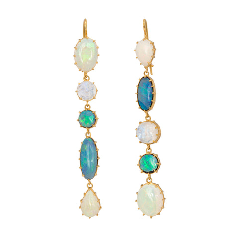 Opal and Moonstone Earrings by Renee Lewis for Broken English Jewelry