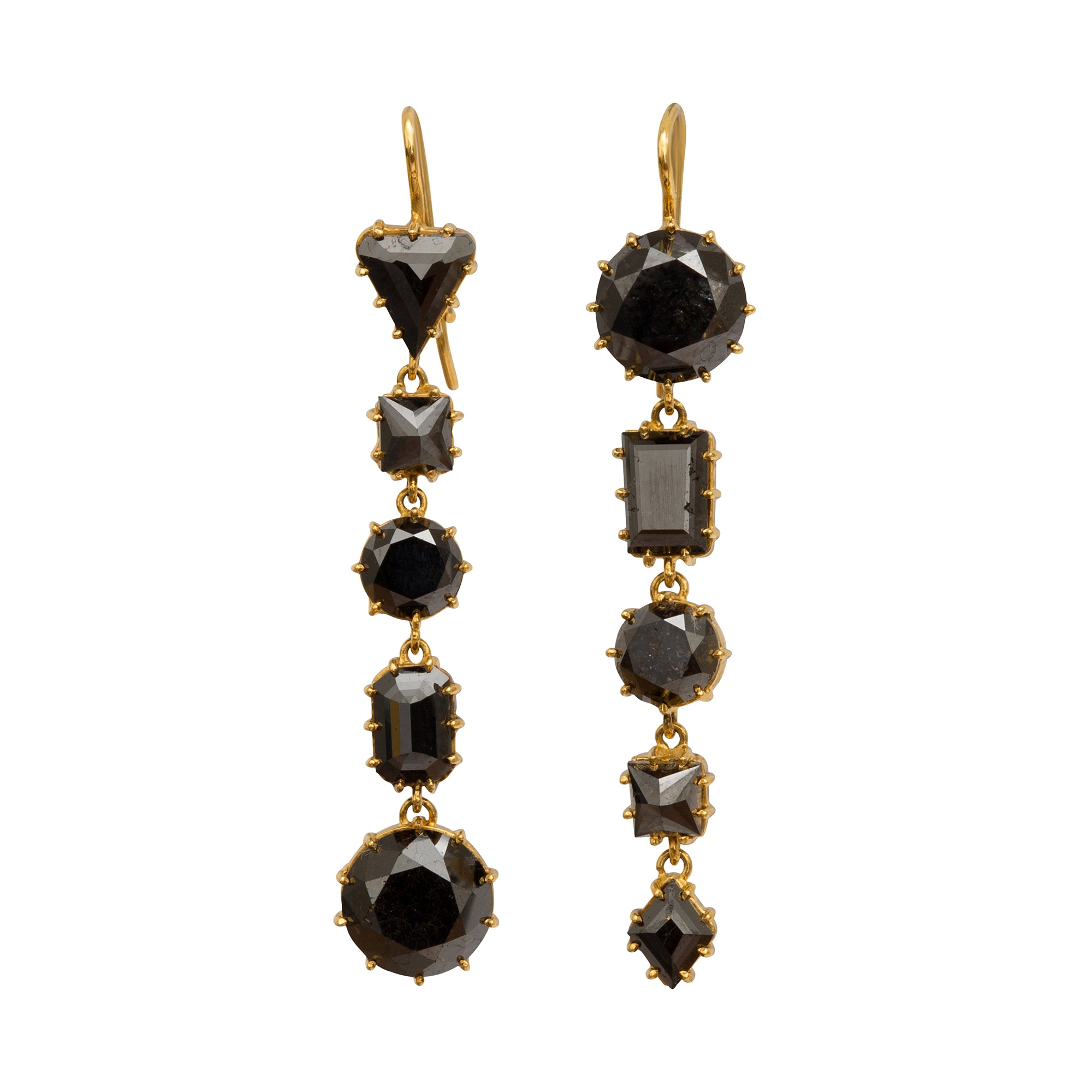 Black Diamond Earrings by Renee Lewis for Broken English Jewelry