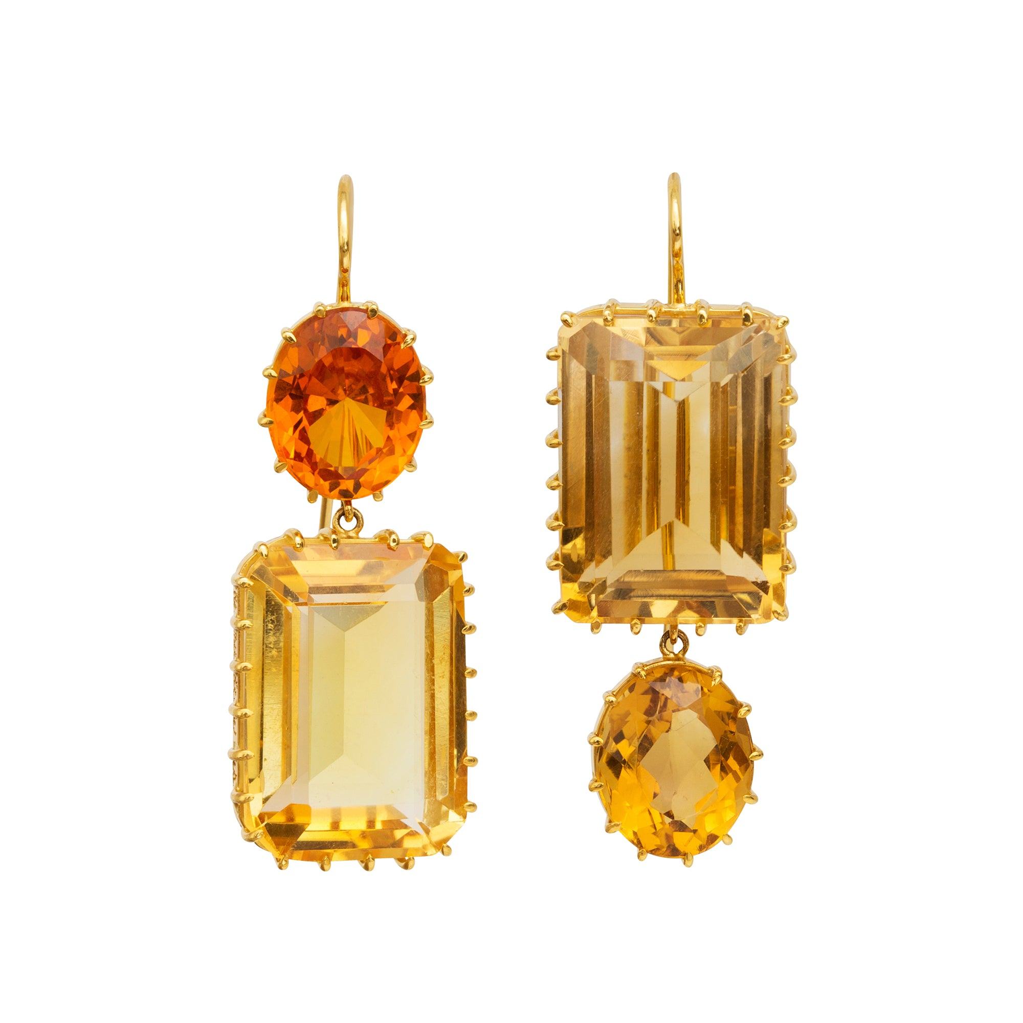 Citrine Earrings by Renee Lewis for Broken English Jewelry