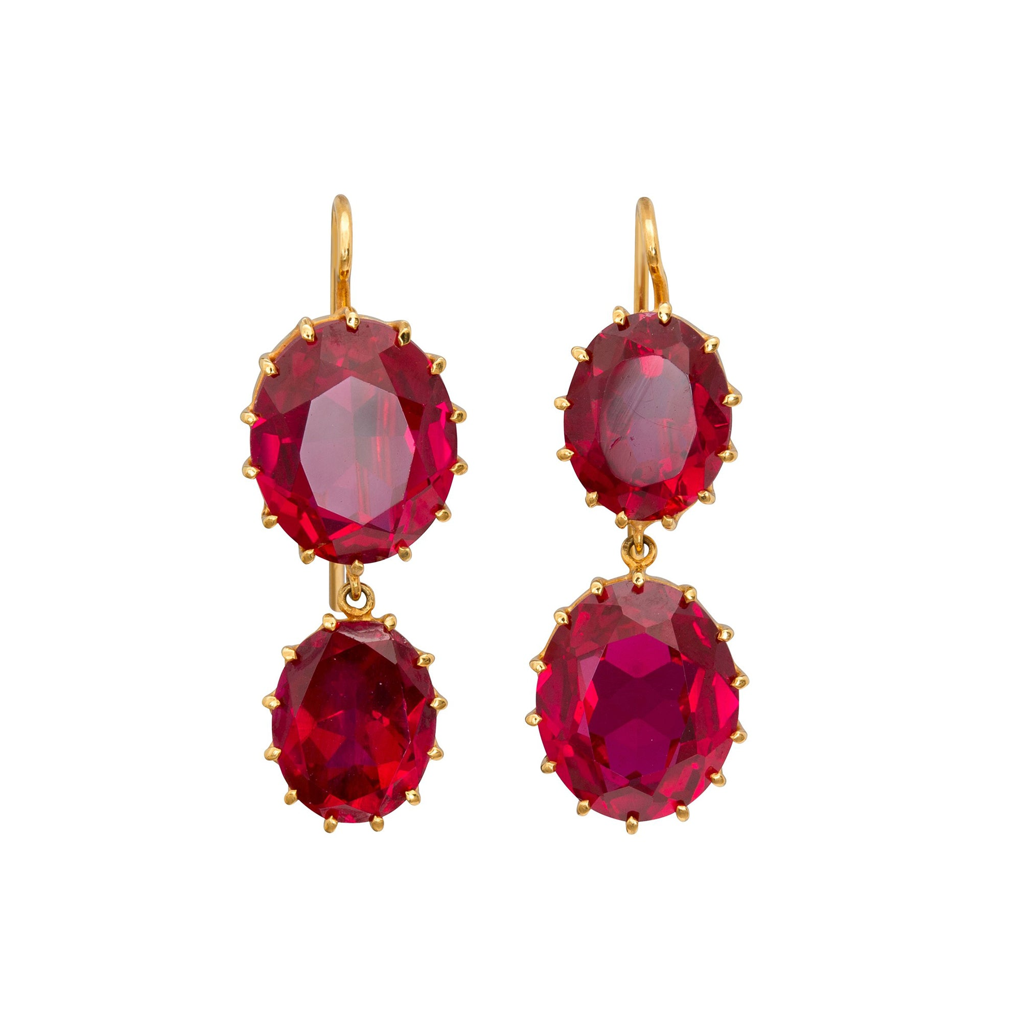 Synthetic Ruby Earrings by Renee Lewis for Broken English Jewelry
