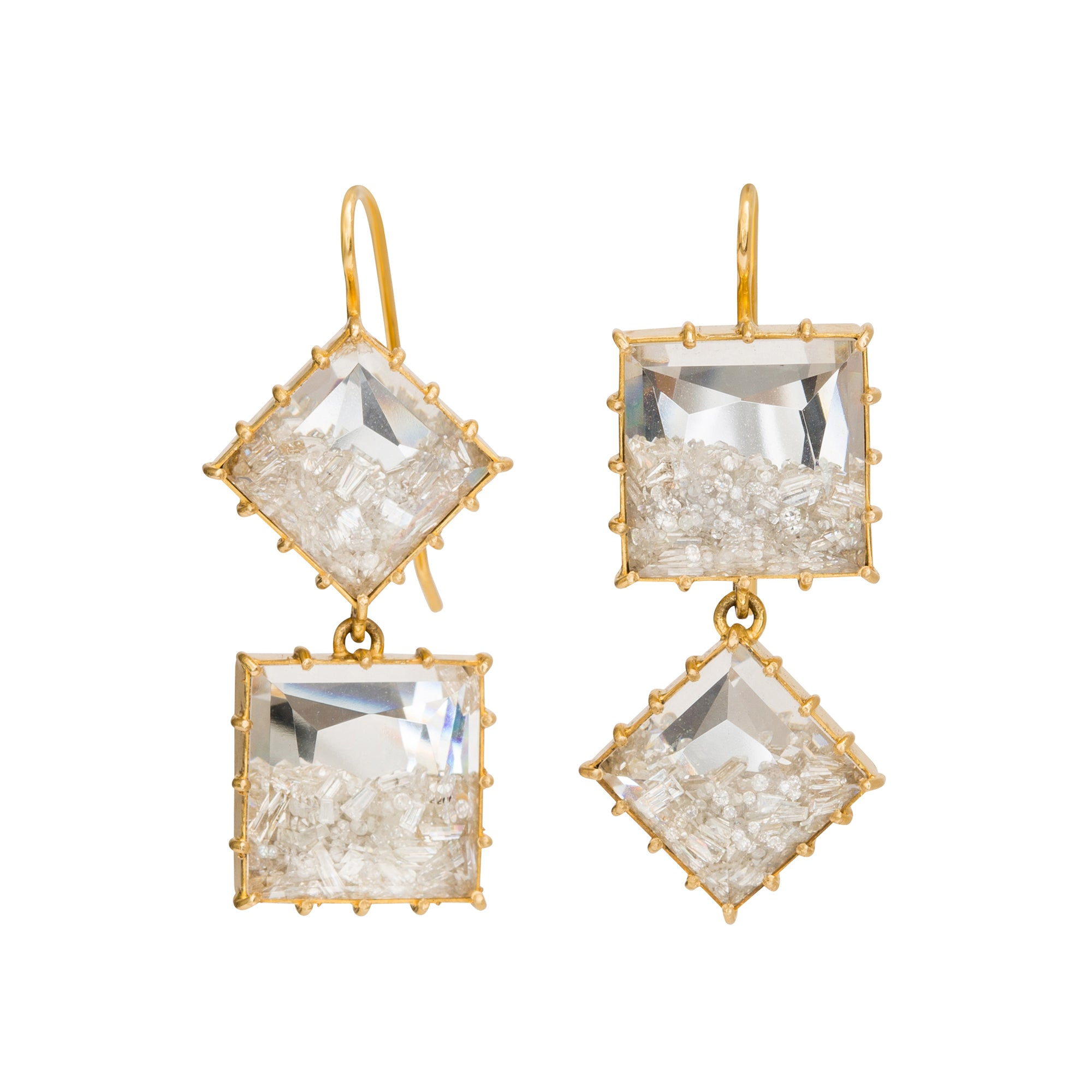 Shake Double Drop Earrings by Renee Lewis for Broken English Jewelry