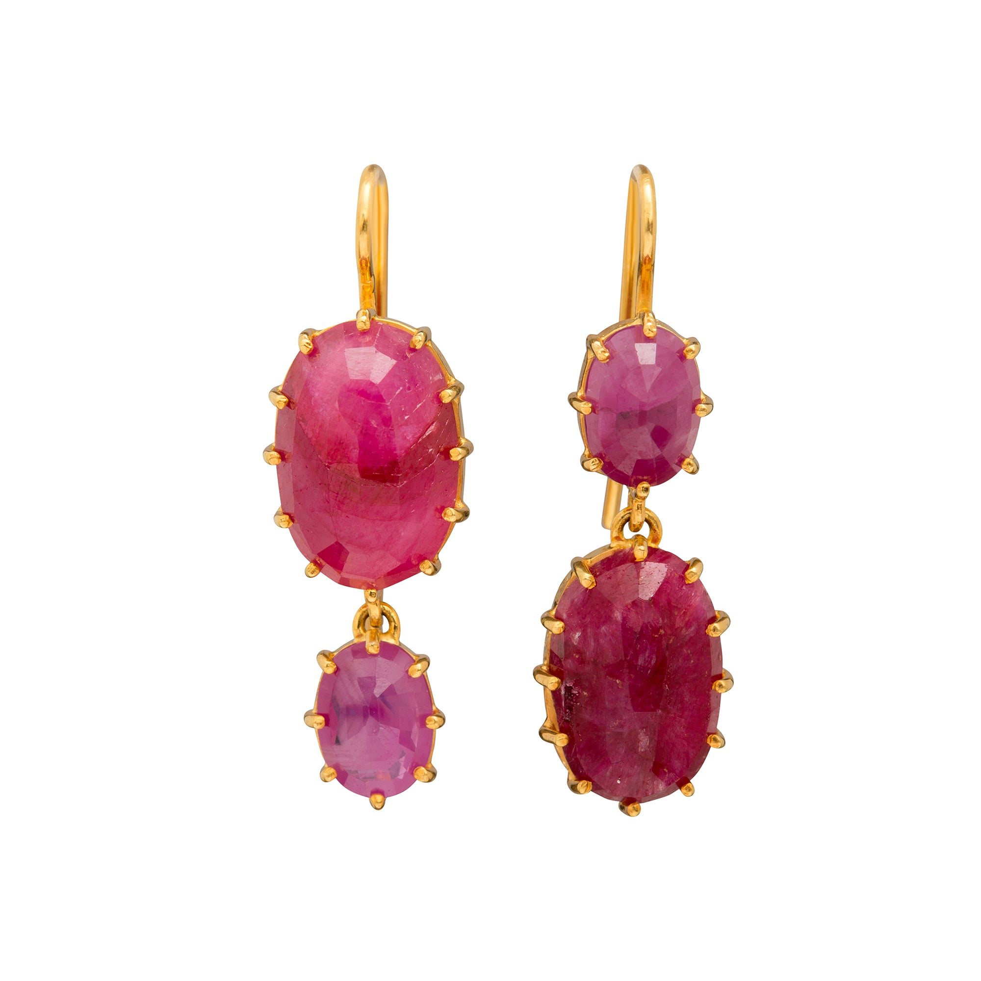 Natural Ruby Earrings by Renee Lewis for Broken English Jewelry