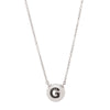 W.Rosado Pearl Black Diamond ID Necklace - Letter G - Necklaces - Broken English Jewelry