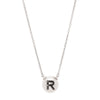 W.Rosado Pearl Black Diamond ID Necklace - Letter R - Necklaces - Broken English Jewelry