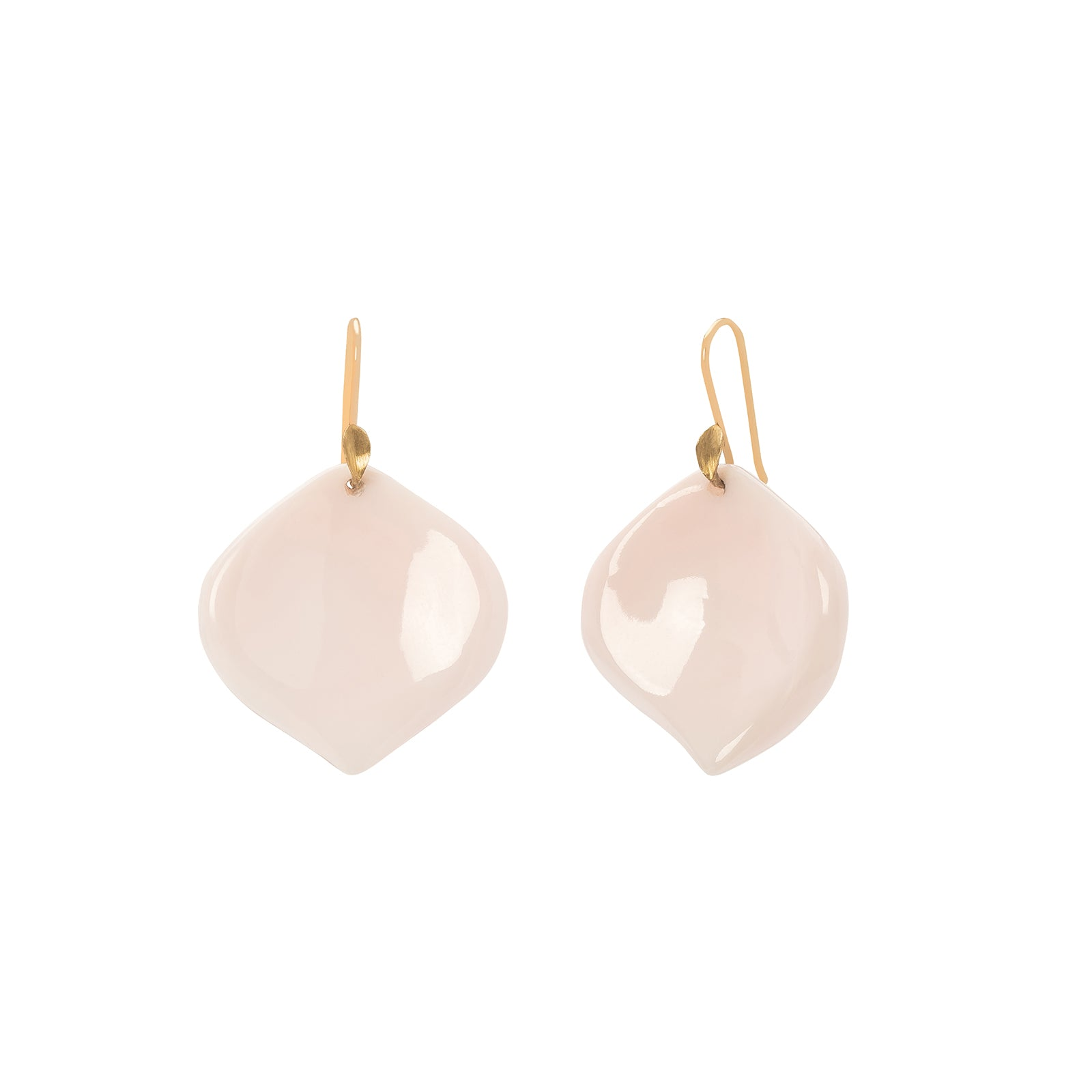 Annette Ferdinandsen Pink Conch Rose Petal Earrings - Earrings - Broken English Jewelry