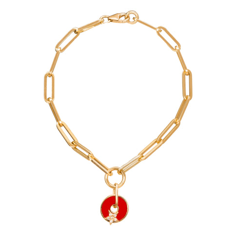 Red Star Bracelet by Foundrae for Broken English Jewelry