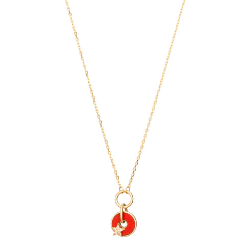 Red Star Drop Disk by Foundrae for Broken English Jewelry