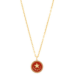 Red Strength Charm with Diamond Star by Foundrae for Broken English Jewelry