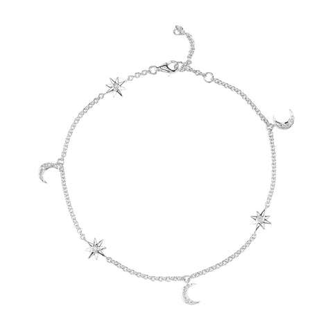 Moon & Star Anklet - Shay - Anklets | Broken English Jewelry