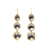 Larkspur & Hawk Sadie Three-Drop Earrings - Grey - Earrings - Broken English Jewelry