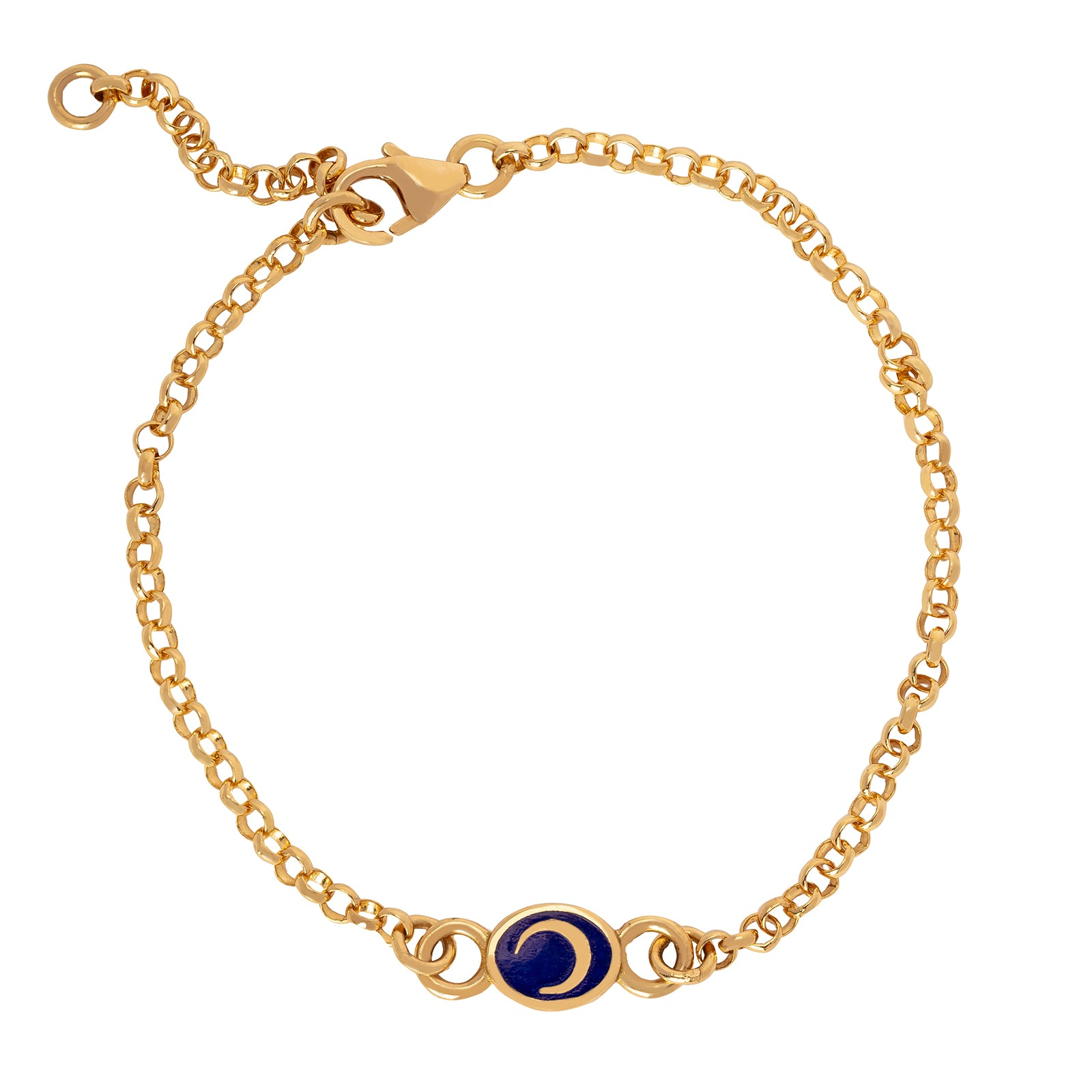 Foundrae Blue Crescent Bracelet - Bracelets - Broken English Jewelry